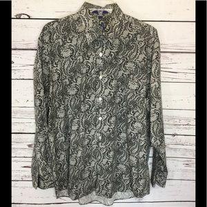 EUC Alan Flusser Men's Paisley Dress Shirt
